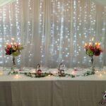 Décoration table d'honneur, Rideaux lumineux