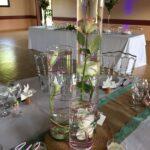 Centre de table, composition en eau réalisation par nos soins