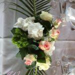 Composition florale de la table d'honneur réalisée par nos soins