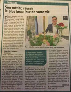 Organisateur de mariage Marne - Article de l'Union d'octobre 2016