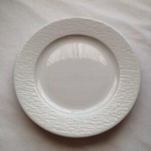 location vaisselle d'assiette ronde zébré