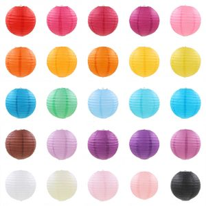 Lampions différentes tailles et coloris disponible