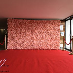 Mur floral en location hors potelés en or et tapis rouge